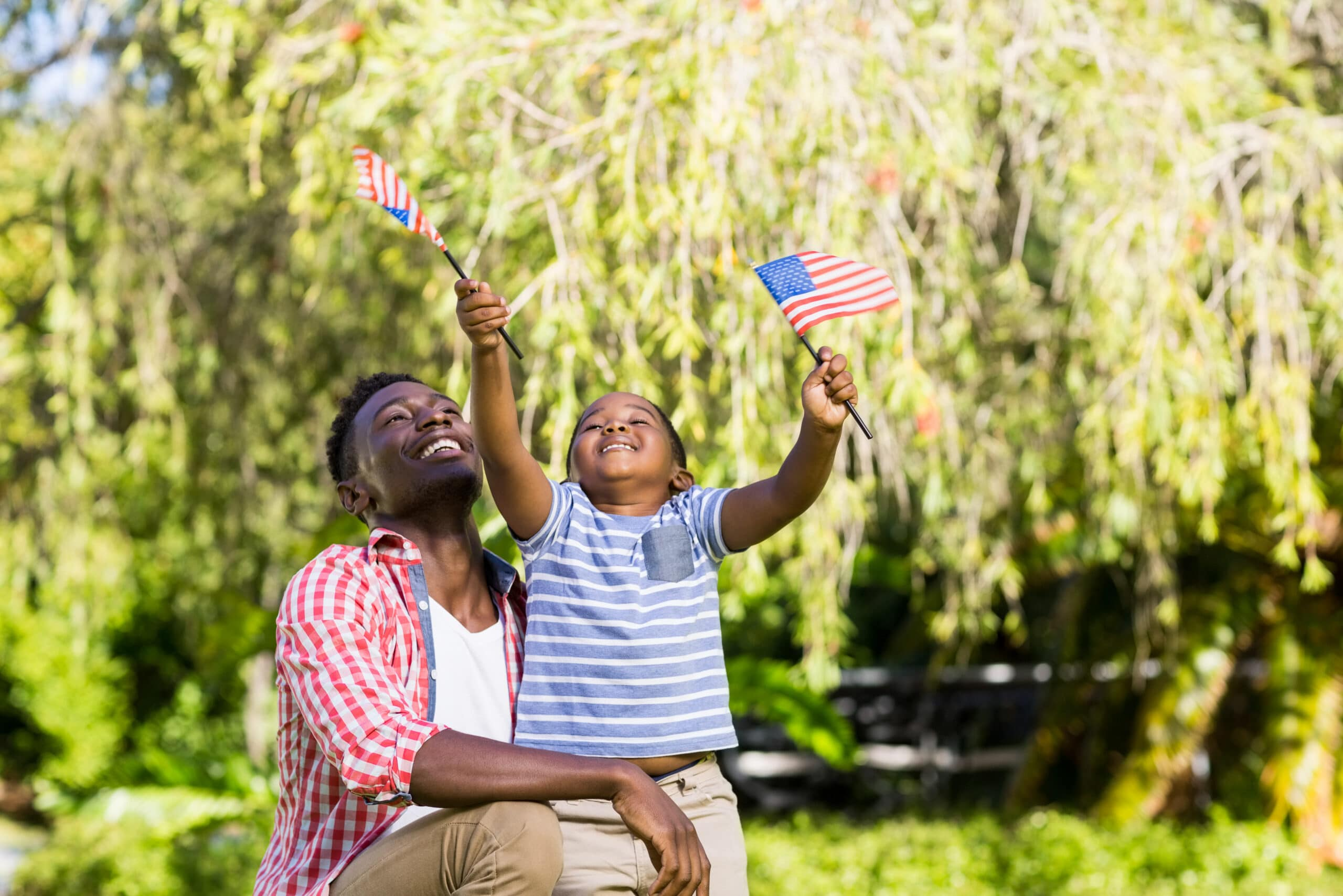Video Gifts for Veterans and Active Duty Military Members, Boy With Flags